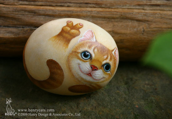手绘石头猫 Jimmy 01