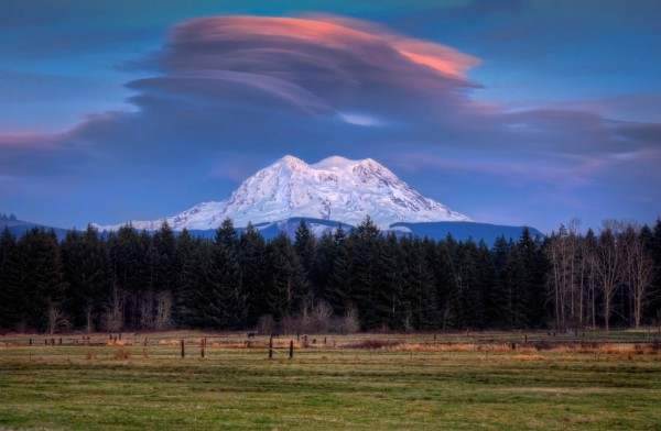 Fresnatic - Lenticular Sunset Over Mt Rainier